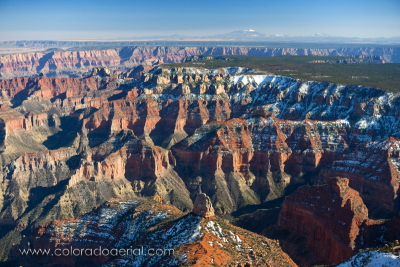 Grand Canyon Aerial Photograph (Mt Hayden, Imperial Point, North Rim)