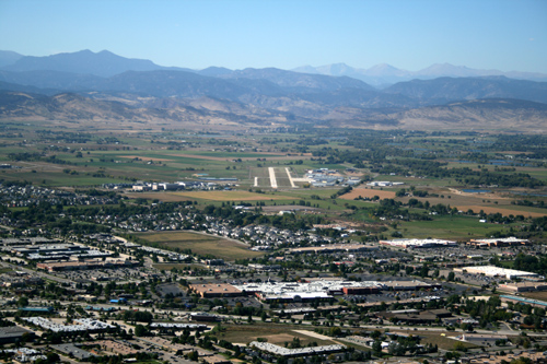 Longmont Airport aerial photo