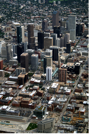 Denver Downtown aerial photo